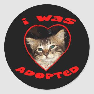 Adopt A Cat Classic Round Sticker