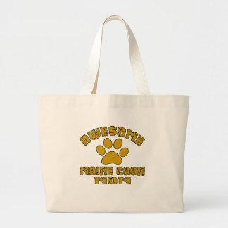 AWESOME MAINE COON MOM LARGE TOTE BAG