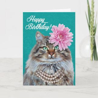 Beautiful Maine Coon Cat– You Look Meowvalous! Card
