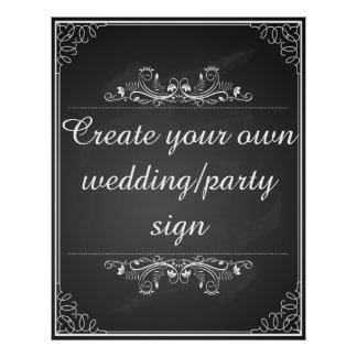 Create your own chalkboard wedding sign poster