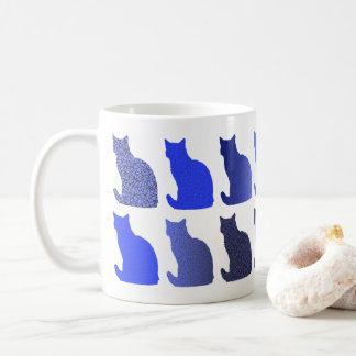 Cute modern cat pattern mug