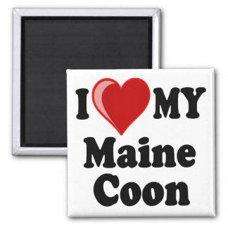 I Love (Heart) My Maine Coon Cat Magnet