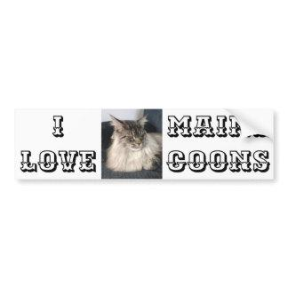 I Love Maine Coons Bumper Sticker