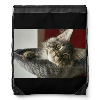 Maine Coon Kitten Drawstring Backpack