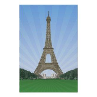 Poster: Eiffel Tower Paris: Vector Drawing