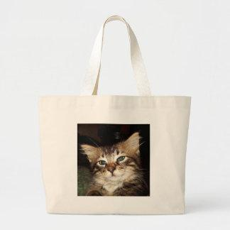 Scrapper Kitten Large Tote Bag