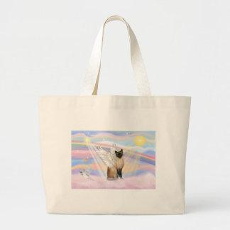 Siamese Cat - Clouds Jumbo Tote Bag