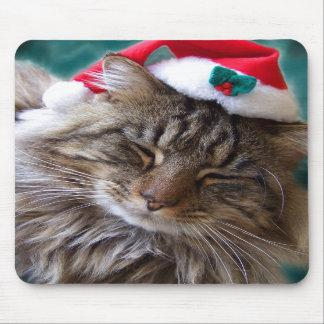 Wake Me Up Santa Cat Mousepad