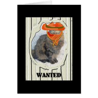 Wanted Cat Card