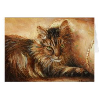 0005 Cat on Pillow Sympathy Card