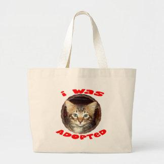 Adopted Kitten Large Tote Bag