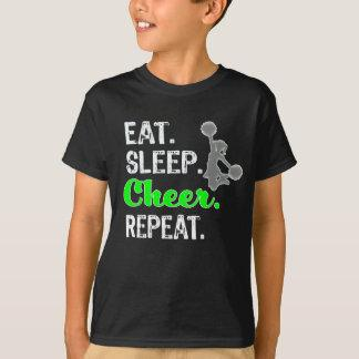 Awesome Eat Sleep Cheer Repeat Gift for Girls T-Shirt