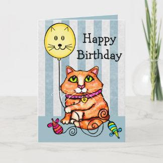 Birthday Greeting Card For Cat Lovers