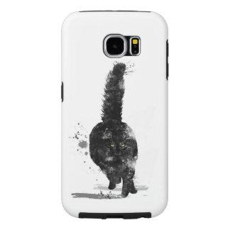 BLACK MAINE COON CAT - SAMSUNG GALAXY S6 CASE