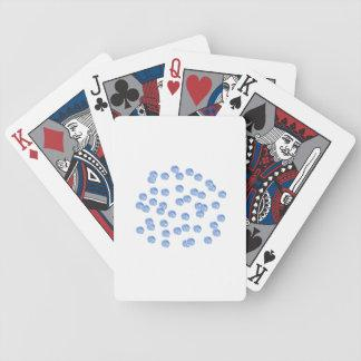 Blue Polka Dots Poker Playing Cards