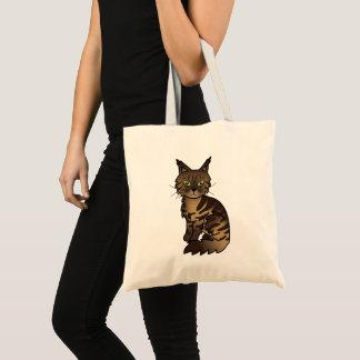 Brown Classic Tabby Maine Coon Cat Tote Bag