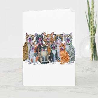 Caroling Cats Holiday Card