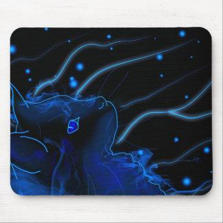 Carpet mouse Maine coon neon Mouse Pad