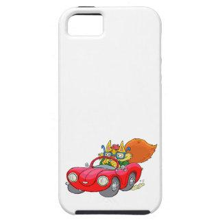 Cartoon illustration, of a cat driving a car. iPhone SE/5/5s case