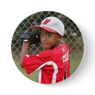 Custom photo sports button / pin