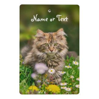 Cute Maine Coon Kitten Cat Flower - Personalized Mini Clipboard