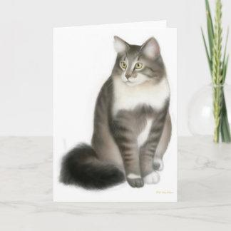 Duffy the Maine Coon Cat Greeting Card