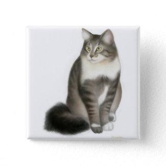 Duffy the Maine Coon Cat Pin
