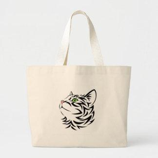 Fluffy Kitty Cat 3 Large Tote Bag