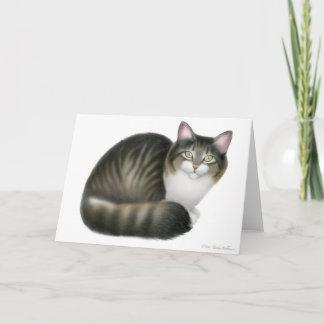Friendly Tabby Cat Card