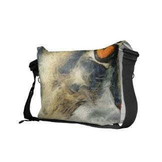 Funky Maine Coon Cat Art Courier Bag