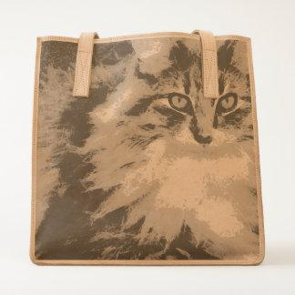 Funky Maine Coon Cat Art Tote