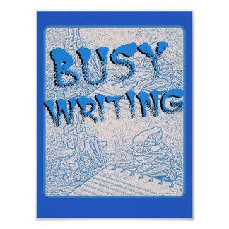 Get Busy Writing Poster