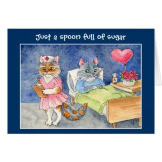 Get well card with cute cats