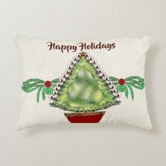 Holiday Silver Bells Accent Pillow