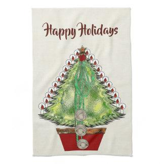 Holiday Silver Bells Hand Towel