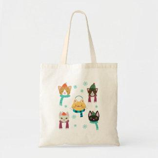 Holiday Winter Cat Kitty Tote