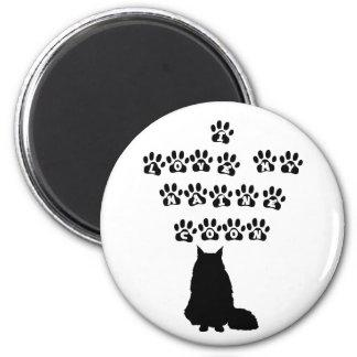 I Love My Maine Coon--Black Text Magnet