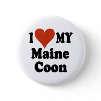 I Love My Maine Coon Cat Merchandise Button