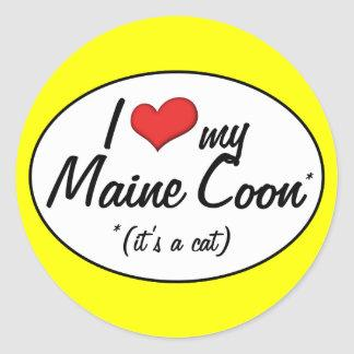 It's a Cat! I Love My Maine Coon Classic Round Sticker