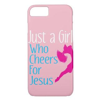 Just A Girl Who Cheers for  Jesus Christian iPhone 8/7 Case