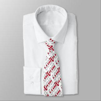 London English Flag Colors England Typography Neck Tie