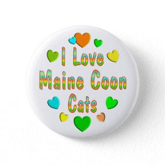 Love Maine Coon Cats Button