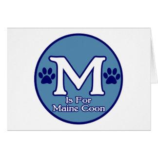 M is for Maine Coon