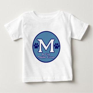 M is for Maine Coon Baby T-Shirt