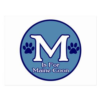 M is for Maine Coon Postcard
