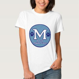 M is for Maine Coon T Shirt