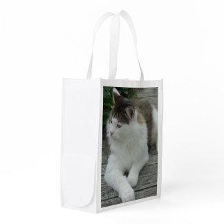 Main Coon Cat Photo Image 1 - Fabric Reusable Bag