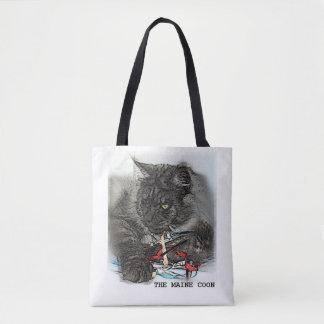 Maine Coon Cat Black Smoke - Tote