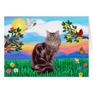 Maine Coon Cat  - Bright Life Card