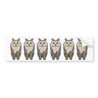 Maine Coon Cat Cartoon Bumper Sticker
